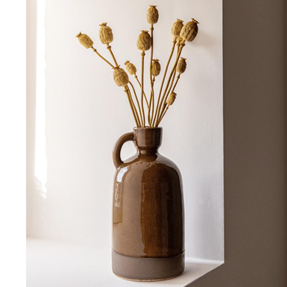 vase en grès marron Maisons du Monde