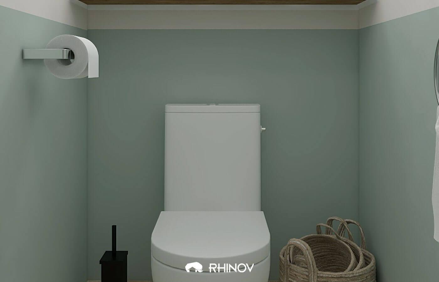 idee peinture wc verts d'eau et deco