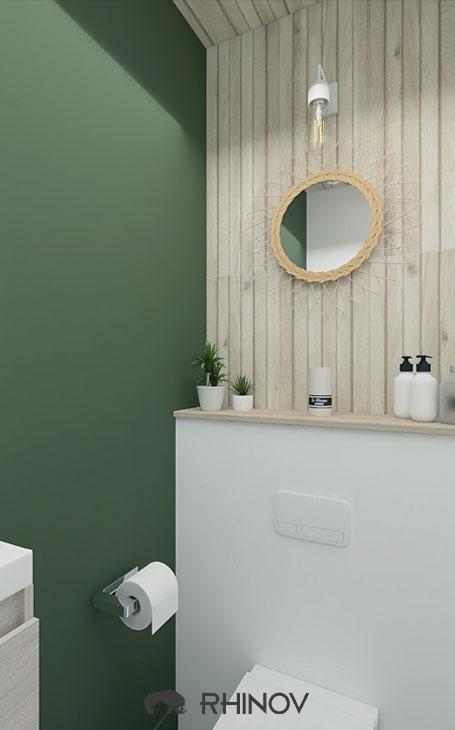 idee wc verts et carreaux blncs