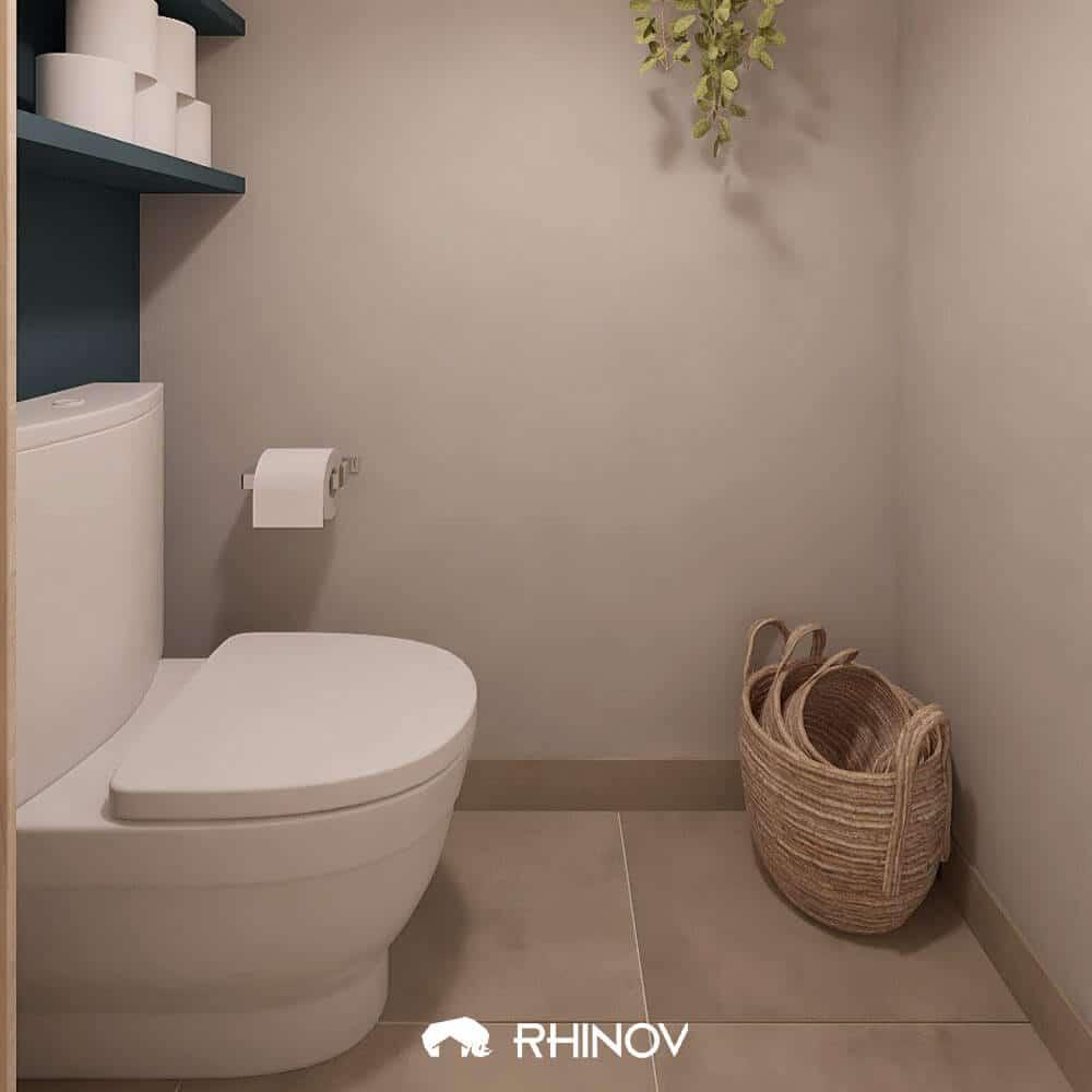 idée wc blancs avec reserve papier toilettes
