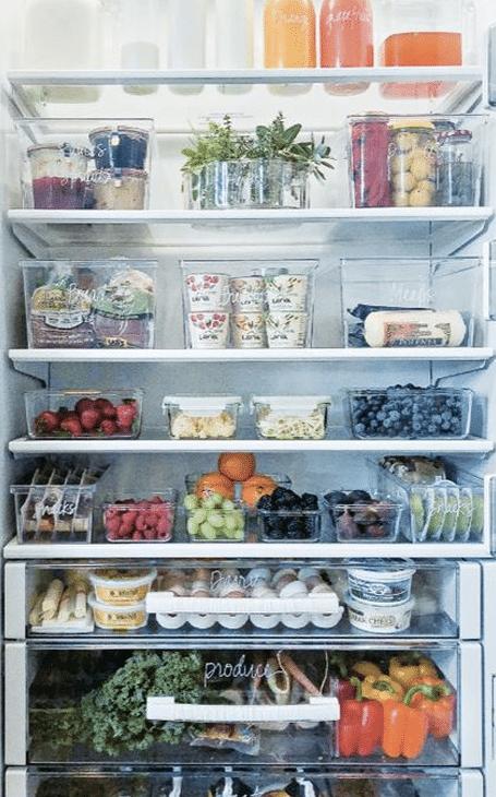 frigo organisation cuisine minimaliste