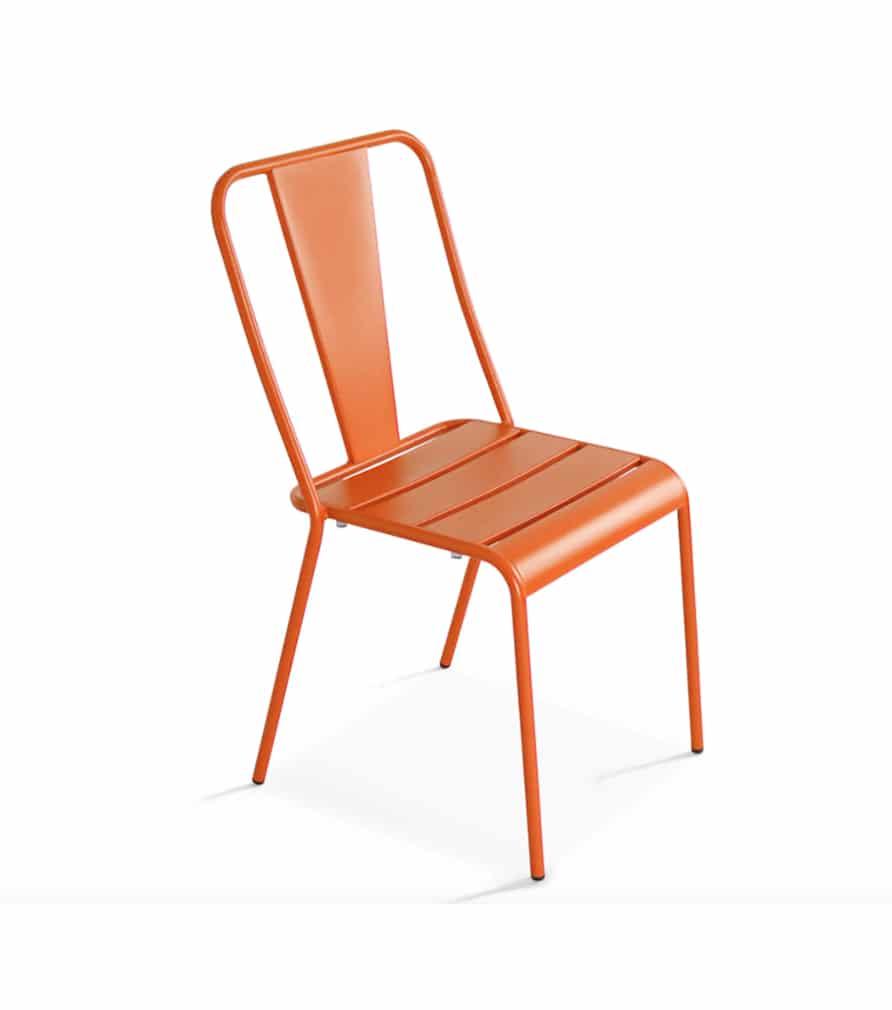 Chaise DIEPPE orange