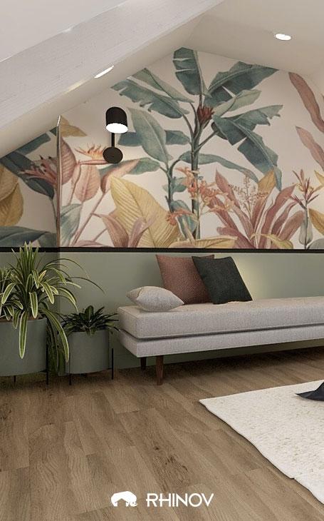 chambre sous comble plantes