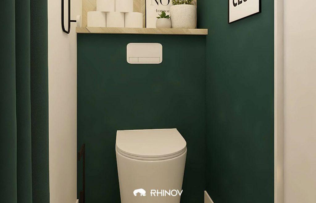 idee peinture wc verts