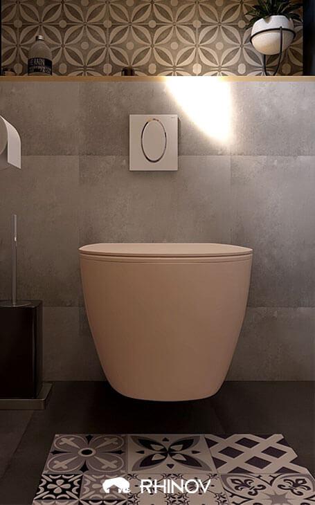 toilettes originaux beiges