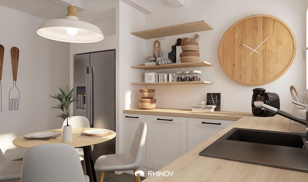 Aménager petite cuisine fermée style nordique