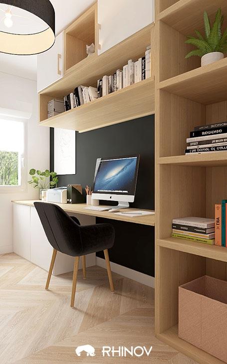organiser sa maison avec un bureau sur-mesure