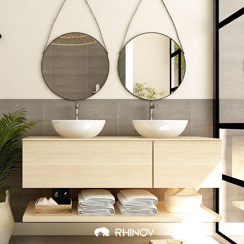 comment organiser sa maison salle de bain meuble sous vasque