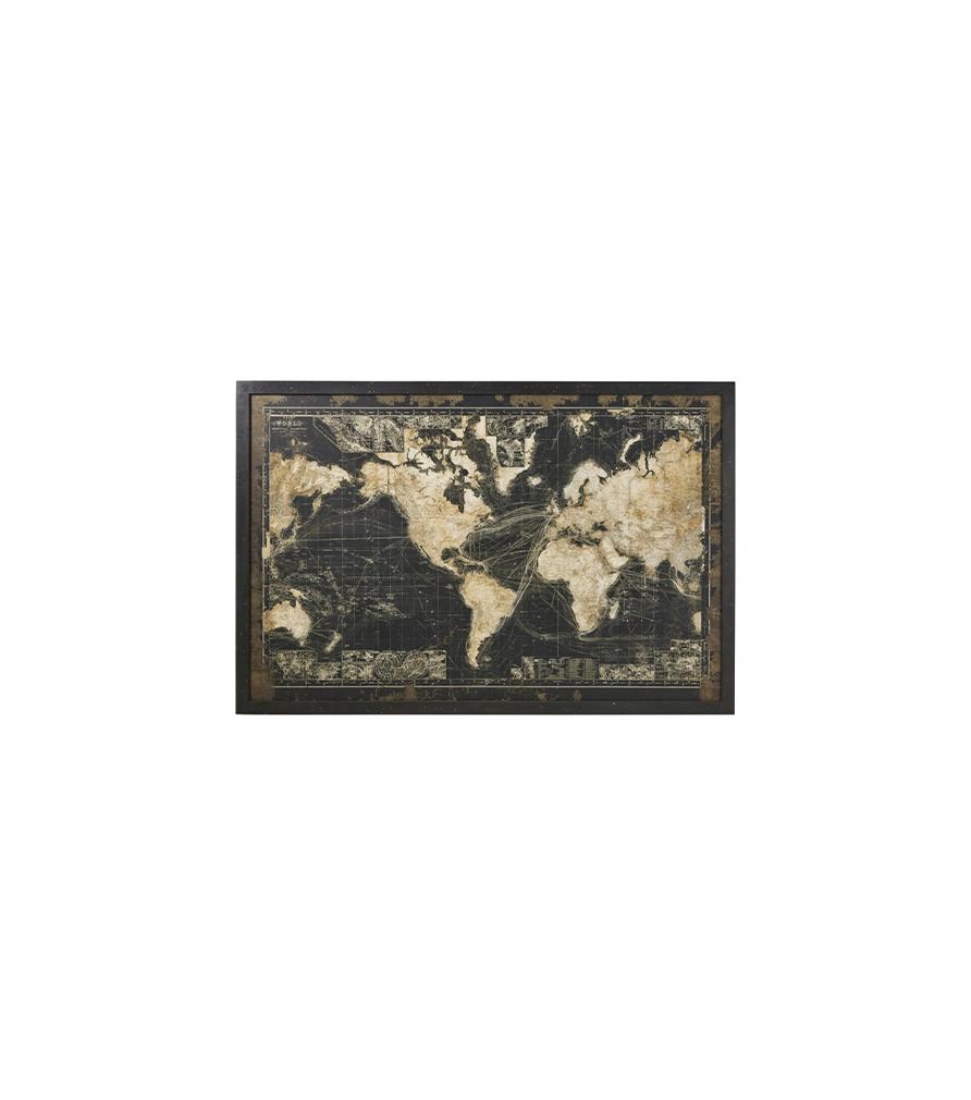 Cadre lumineux carte du monde