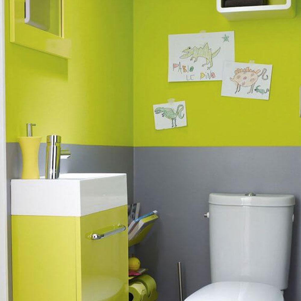 solutio idee wc peinture vert fluo