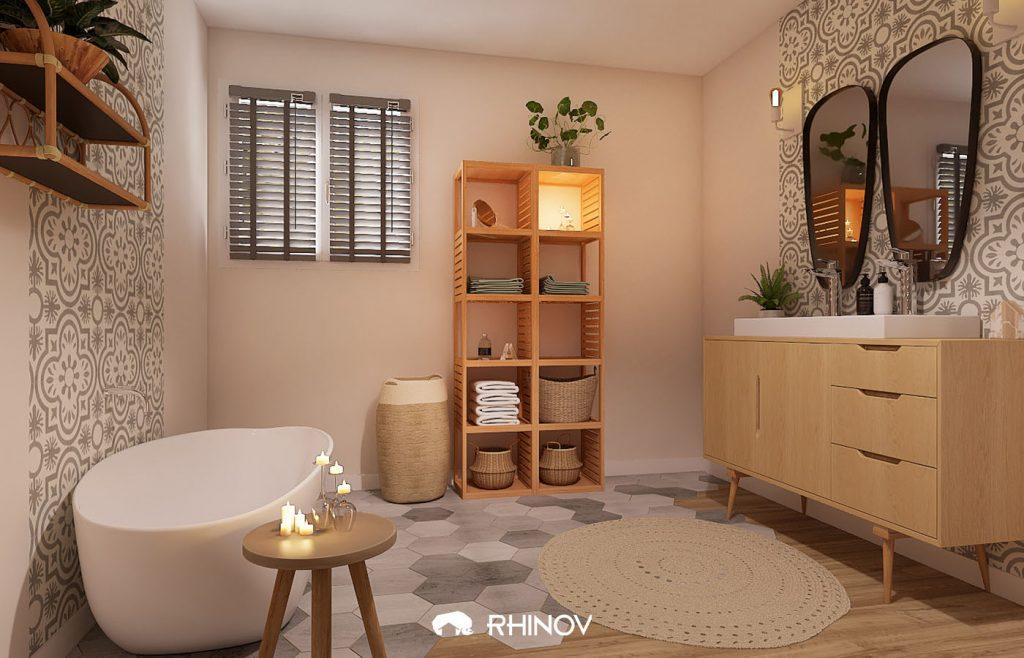 comment ranger sa maison salle de bain meubles verticaux