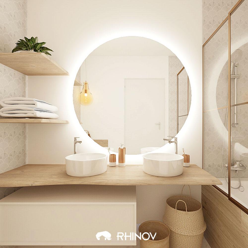 comment ranger sa maison salle de bain beige