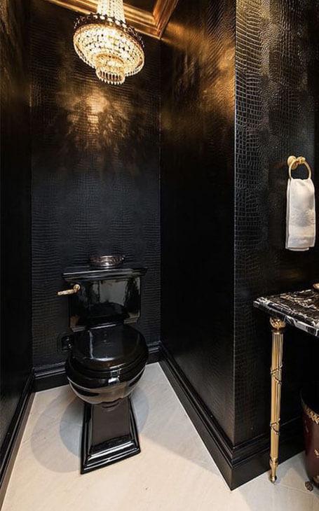 toilettes originaux noirs
